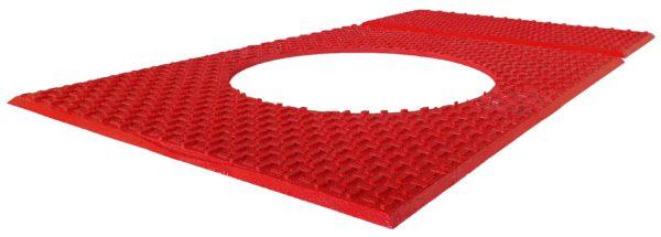 Rød Zone Rotary Table mat fuld produkt