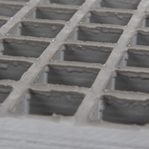 Concave glassfibre grating