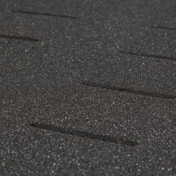 Anti-Slip industry mat surface in black.