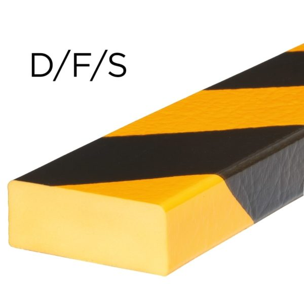 Bumper til overflade beskyttelse i typer D, F og S.
