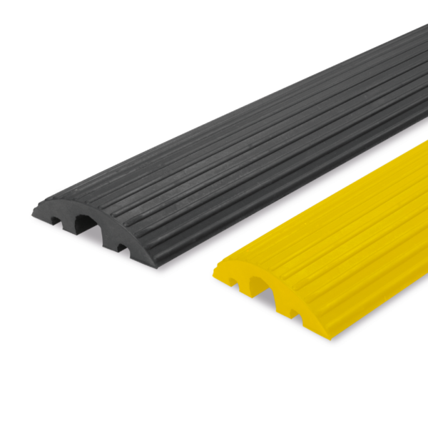 Cable bridge with 3 channels in black and yellow 210x1200x65mm.