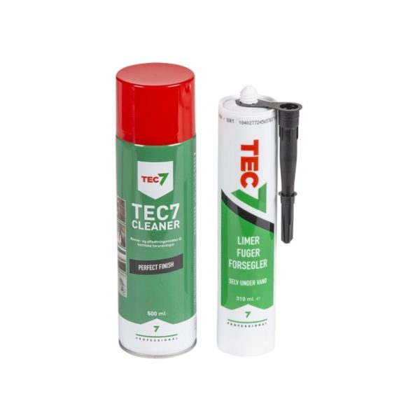 TEC7 cleaner af 500 ml og lim af 310ml.