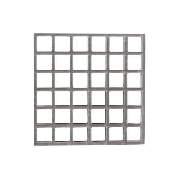 Konkav glasfiberrist i grå, str. MESH31x31-h30-38.