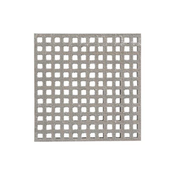 Skridsikker glasfiberrist mini overflade i grå.