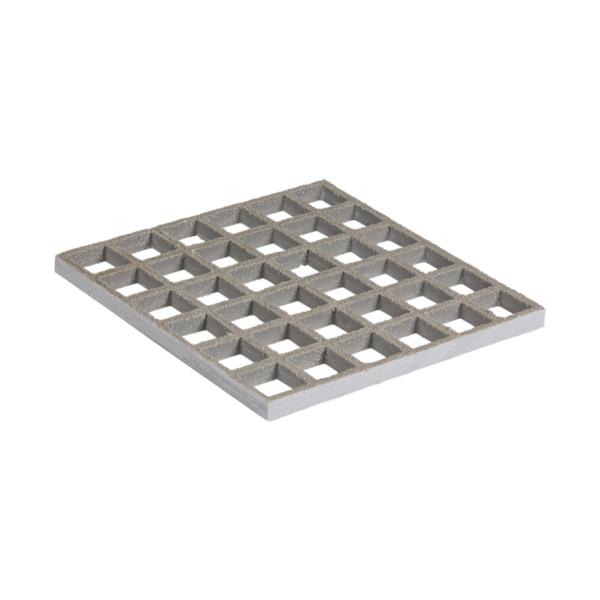 Anti-Slip glassfibre grating in grey, size 1220x3660mmxh13.