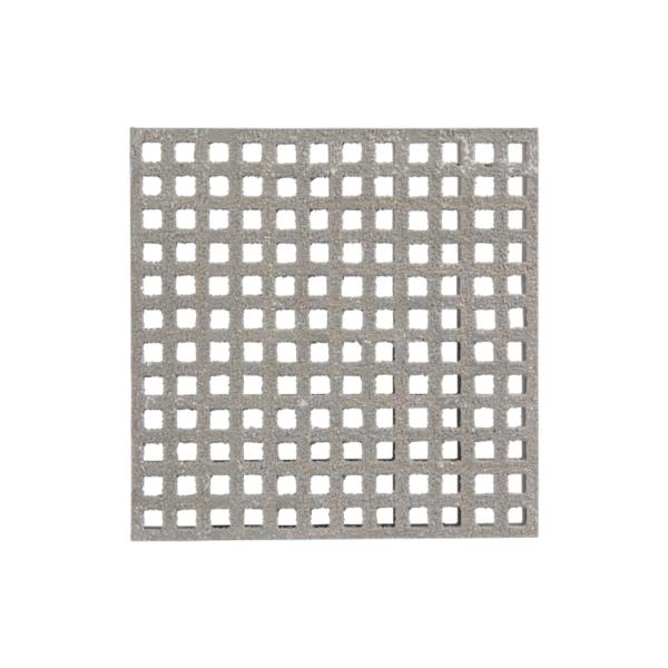 Anti-slip glassfibre grating mini surface in grey.