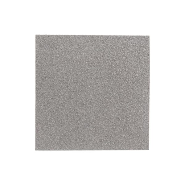 Closed, anti-slip glassfibre grating surface in grey.