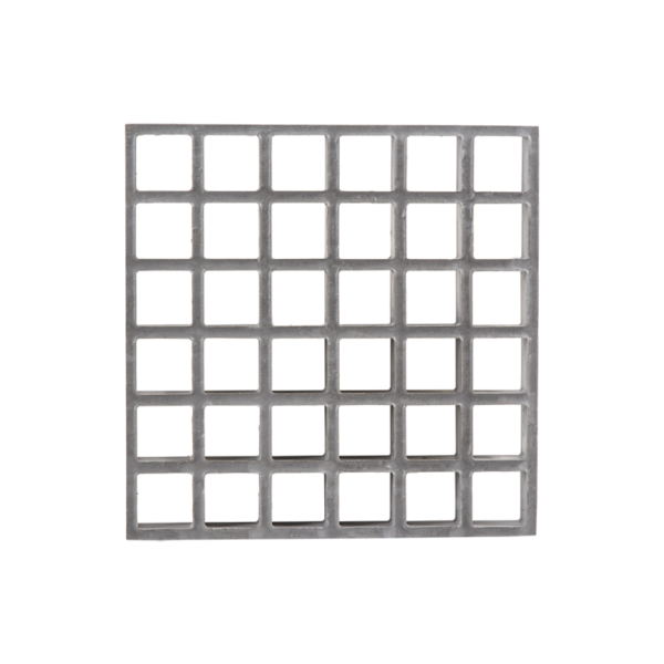 Concave glassfibre grating in grey, size MESH31x31-h30-38.