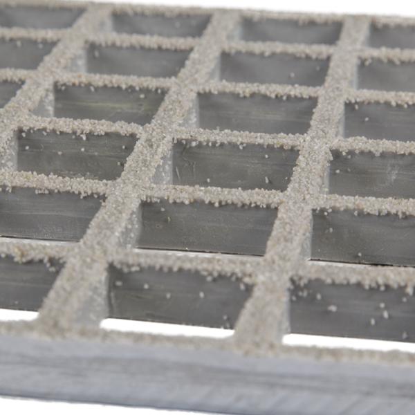 Anti-slip glassfibre grating low in grey.