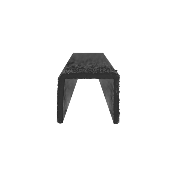 Ladder rung cover channel in black front, size 30mmx300-500mm.
