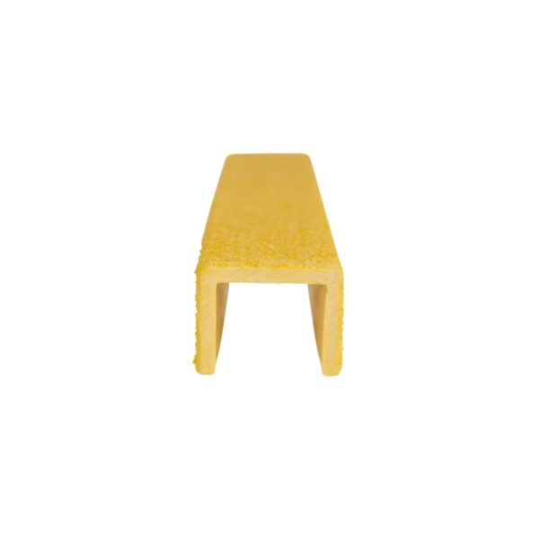 Ladder rung cover channel in yellow front, size 20mmx300-500mm.