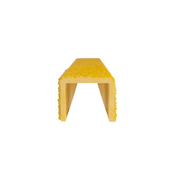 Ladder rung cover channel in yellow front, size 25mmx300-500mm.