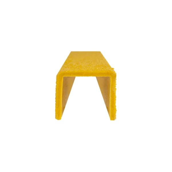 Ladder rung cover channel in yellow front, size 30mmx300-500mm.