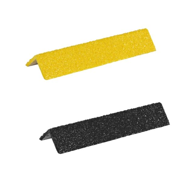 Ladder rung cover diamond in black+yellow, size 25mmx300-500mm.