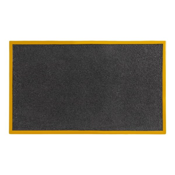 Ramp in black and yellow surface 760x460x80mm.