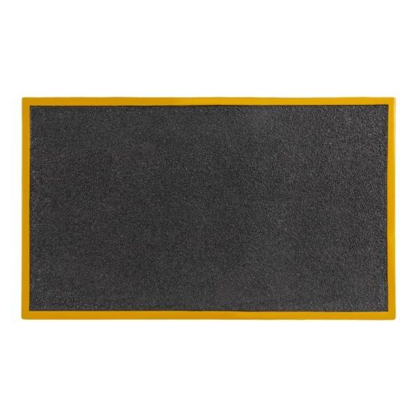 Rampe i sort og gul overflade 760x460x80mm.