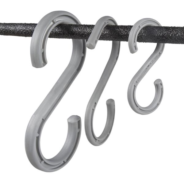 Stærke S-kroge til kabler i forskellige størrelser.