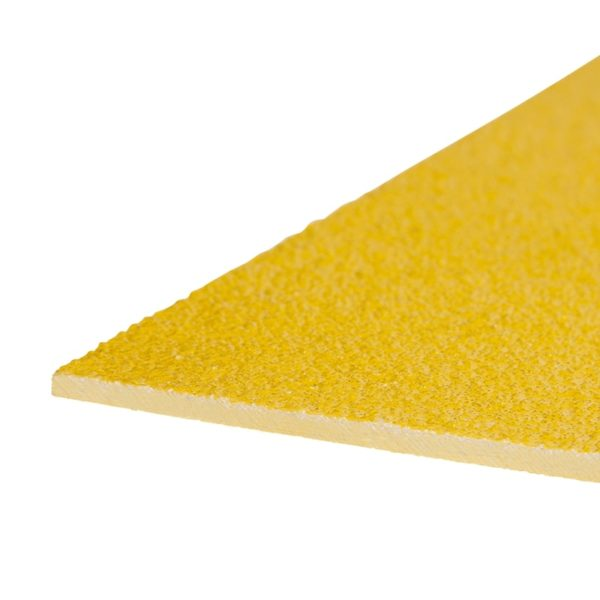 Skridsikker plade i gul på 1200mmx2000mm.