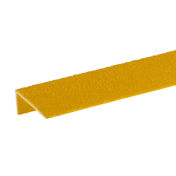 Stair edge cover in yellow, size 75mmx900mm.
