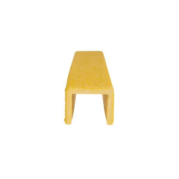 Stigesikring firkant i gul forfra på 20mmx300-500mm.
