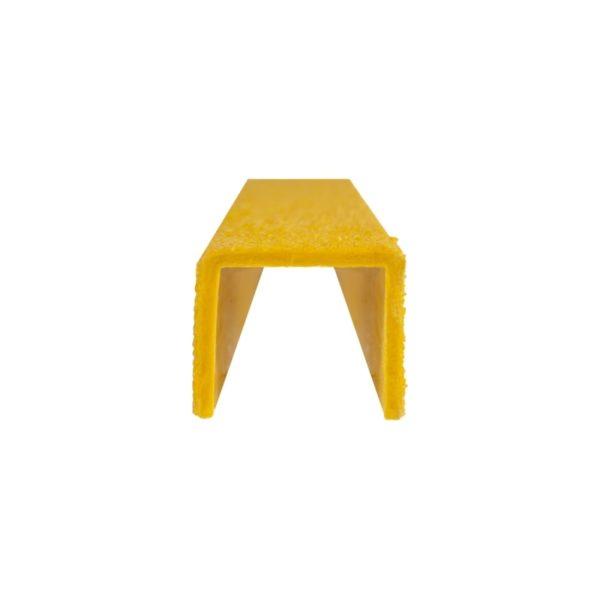 Stigesikring firkant i gul forfra på 30mmx300-500mm.