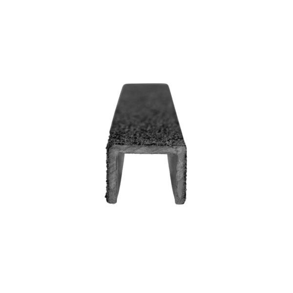 Stigesikring firkant i sort forfra på 20mmx300-500mm.