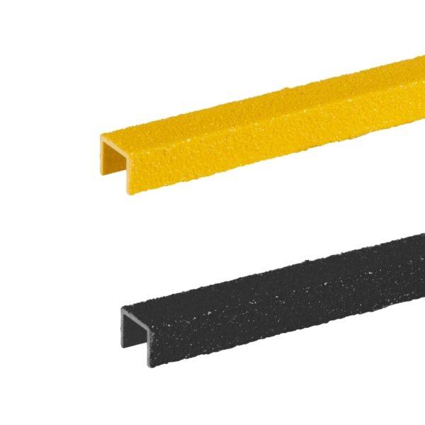 Stigesikring firkant i sort+gul på 20-30mmx300-500mm.