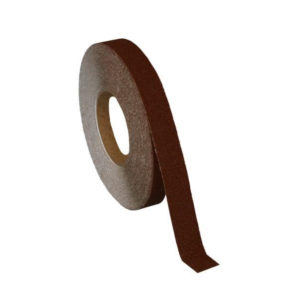 Skridsikker tape i brun på 25mm.