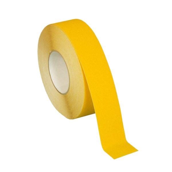Skridsikker tape i gul på 50mm.
