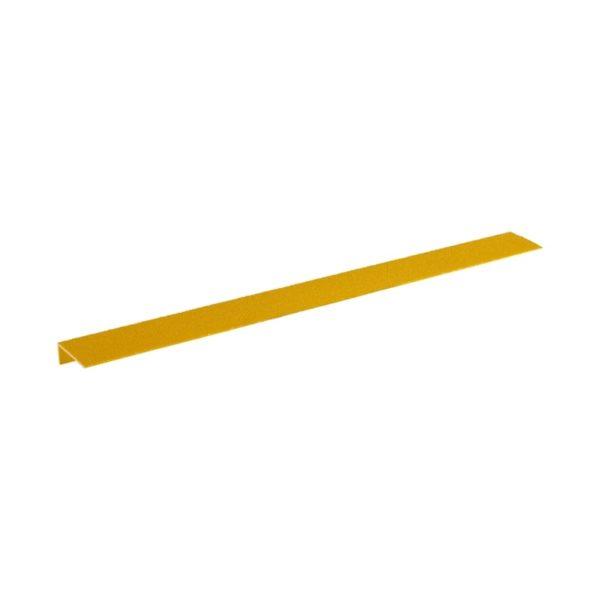 Trappe kant sikring i gul på75mmx600mm.