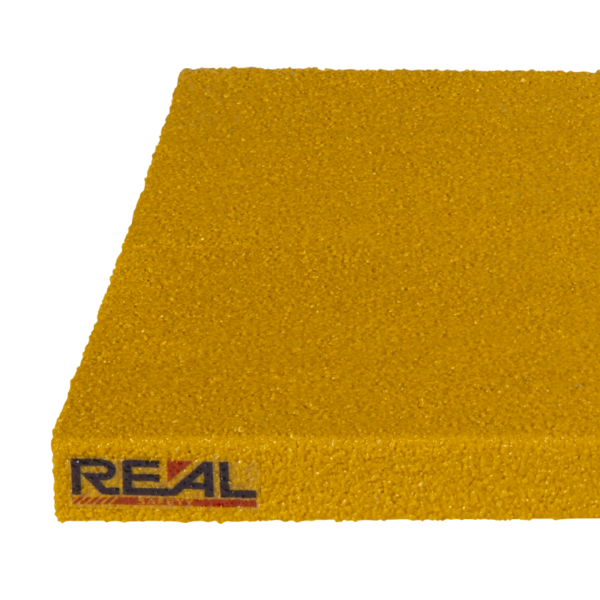 Skridsikker trinsikring profil i gul på 300x450-1200mm.